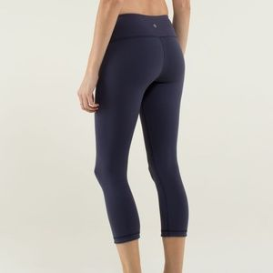 Lululemon Wunder Under Crop *Reversible